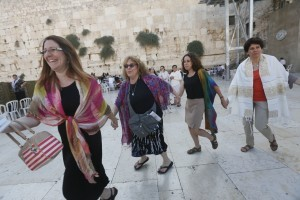Women dancing at the Western Wall