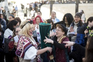 Women of the Wall with a Torah Scroll