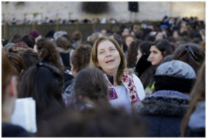 Anat Hoffman at the Kotel.